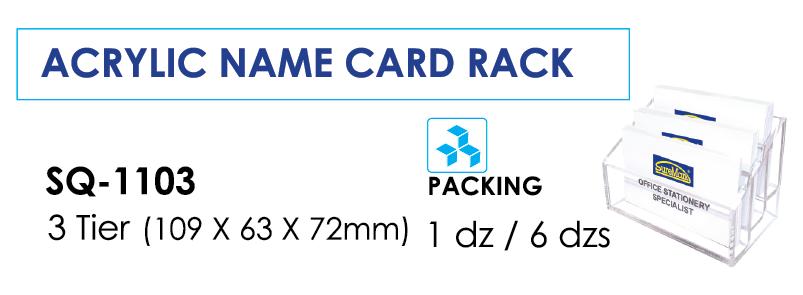 Kệ đựng card 3 ngăn SQ-1103