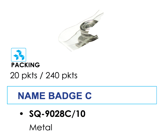 Kẹp bảng tên bằng sắt SQ-9028C