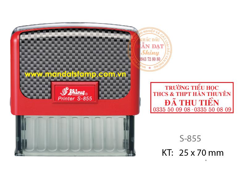 Dấu Mã Số thuế CTy, KT:  25 x 70 mm